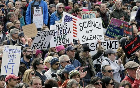 02/19/17: Scientists hold rally in Boston to protest threat to science