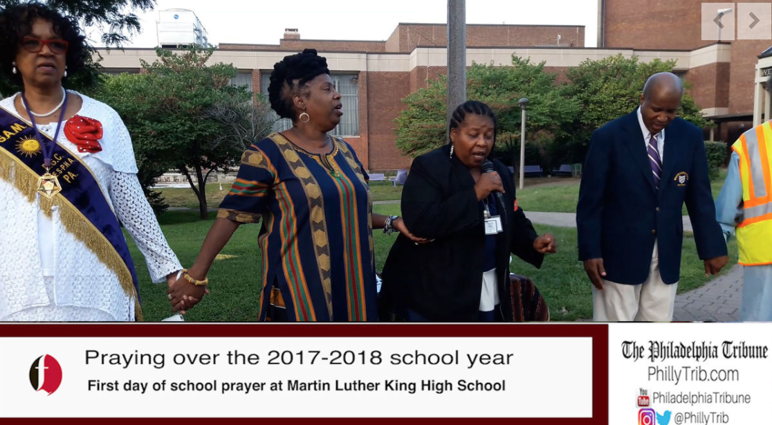 09/05/17: 'Praying in' the school year at Martin Luther King HS