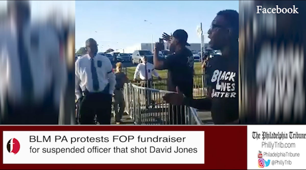 10/02/17: BLM PA protests FOP fundraiser for officer that shot David Jones