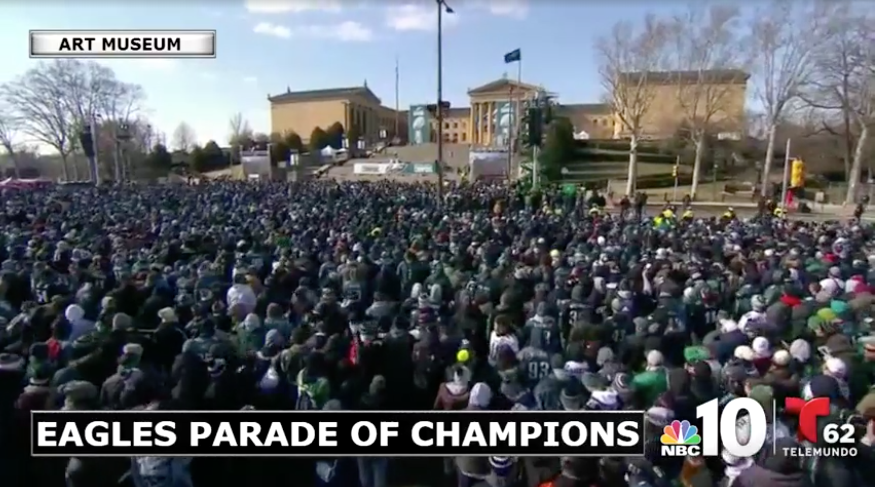 02/08/18: EAGLES SUPER BOWL 52 VICTORY PARADE TEAM COVERAGE